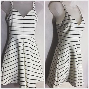 Women's LIKELY STRIPED SKATER FLARE DRESS SIZE 0